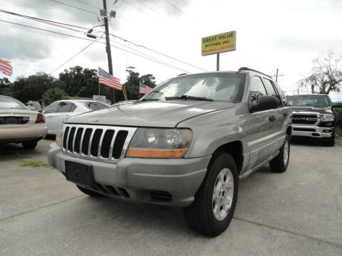 2000 Jeep Grand Cherokee for sale at GREAT VALUE MOTORS in Jacksonville FL
