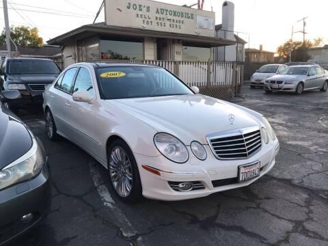 2007 Mercedes-Benz E-Class for sale at Joe's Automobile in Vallejo CA