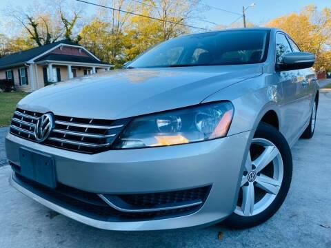 2013 Volkswagen Passat for sale at E-Z Auto Finance in Marietta GA