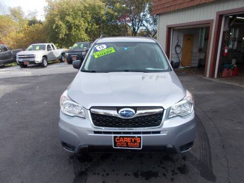 2015 Subaru Forester for sale at Careys Auto Sales in Rutland VT