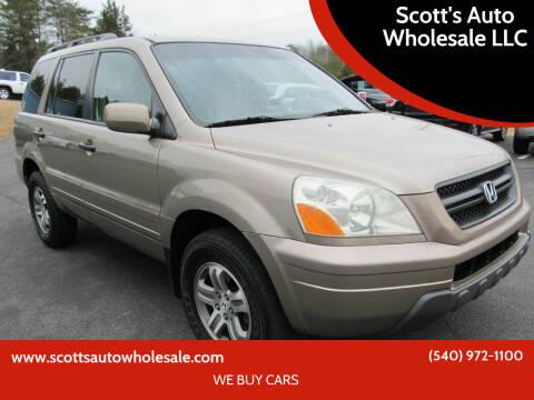 2003 Honda Pilot for sale at Scott's Auto Wholesale LLC in Locust Grove VA