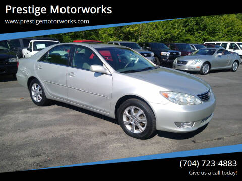 2005 Toyota Camry for sale at Prestige Motorworks in Concord NC