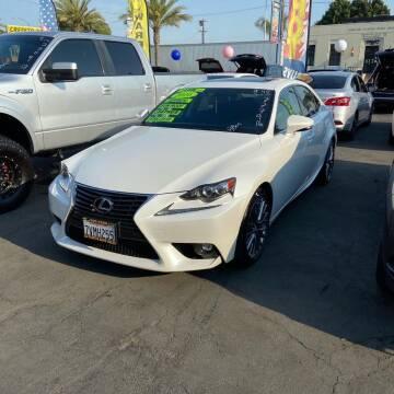 2016 Lexus IS 200t for sale at 2955 FIRESTONE BLVD - 3271 E. Firestone Blvd Lot in South Gate CA