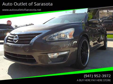 2013 Nissan Altima for sale at Auto Outlet of Sarasota in Sarasota FL