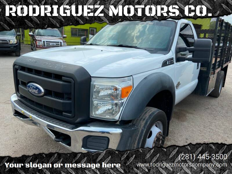 2012 Ford F-550 Super Duty for sale at RODRIGUEZ MOTORS CO. in Houston TX
