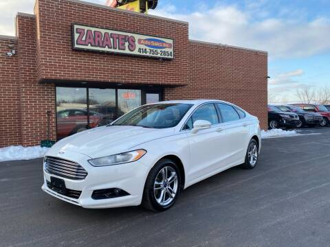 2015 Ford Fusion for sale at Zarate's Auto Sales in Caledonia WI