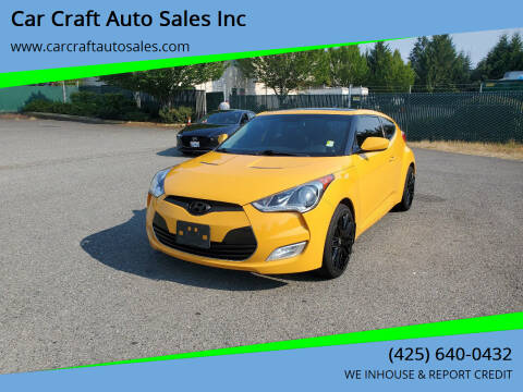 2013 Hyundai Veloster for sale at Car Craft Auto Sales Inc in Lynnwood WA