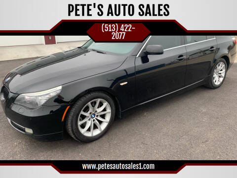 2008 BMW 5 Series for sale at PETE'S AUTO SALES LLC - Middletown in Middletown OH
