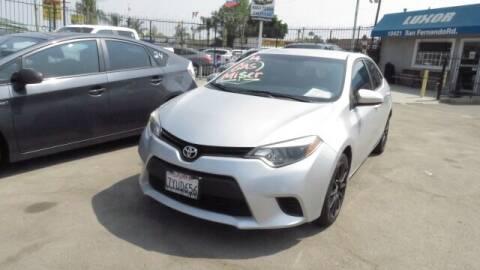 2014 Toyota Corolla for sale at Luxor Motors Inc in Pacoima CA