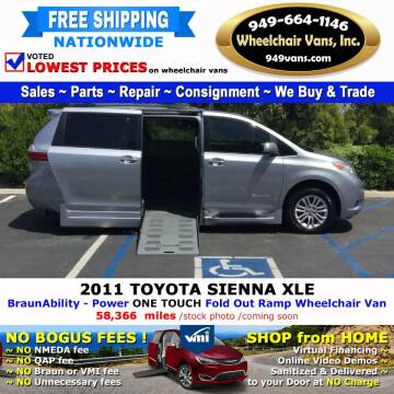 2011 Toyota Sienna for sale at Wheelchair Vans Inc - New and Used in Laguna Hills CA