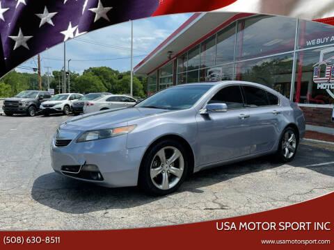 2012 Acura TL for sale at USA Motor Sport inc in Marlborough MA