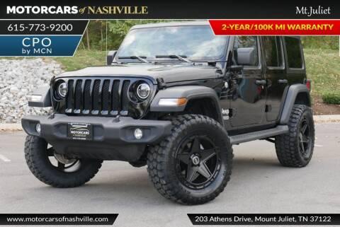 2019 Jeep Wrangler Unlimited for sale at MotorCars of Nashville in Mount Juliet TN