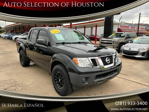 2016 Nissan Frontier for sale at Auto Selection of Houston in Houston TX