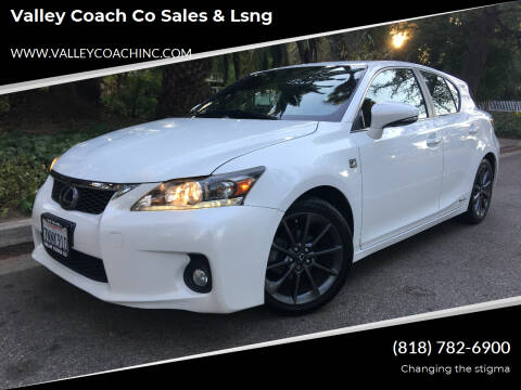 2013 Lexus CT 200h for sale at Valley Coach Co Sales & Lsng in Van Nuys CA