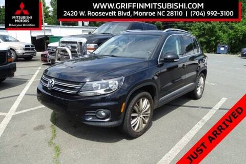 2013 Volkswagen Tiguan for sale at Griffin Mitsubishi in Monroe NC
