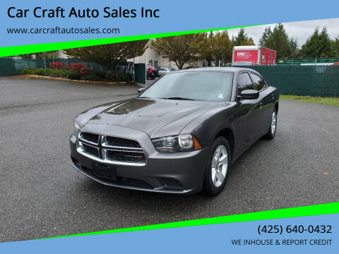 2014 Dodge Charger for sale at Car Craft Auto Sales Inc in Lynnwood WA