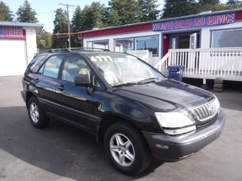 2001 Lexus RX 300 for sale at 777 Auto Sales and Service in Tacoma WA