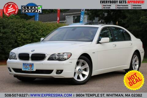 2006 BMW 7 Series for sale at Auto Sales Express in Whitman MA