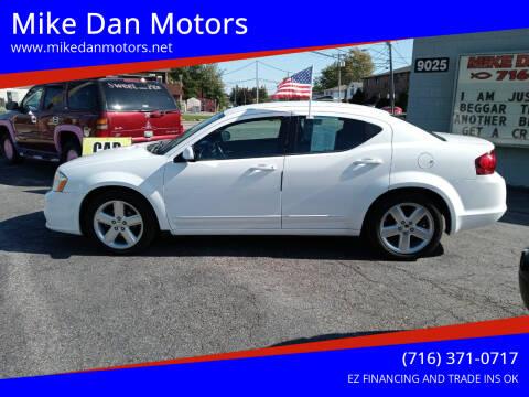 2013 Dodge Avenger for sale at Mike Dan Motors in Niagara Falls NY
