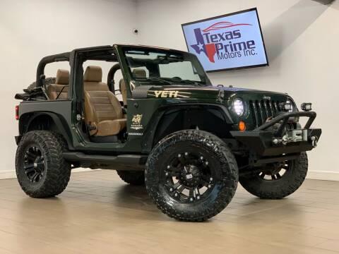 2011 Jeep Wrangler for sale at Texas Prime Motors in Houston TX