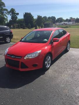 2013 Ford Focus for sale at Hines Auto Sales in Marlette MI