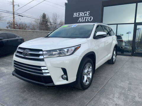 2018 Toyota Highlander for sale at Berge Auto in Orem UT