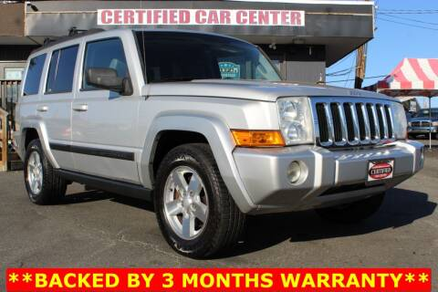 2007 Jeep Commander for sale at CERTIFIED CAR CENTER in Fairfax VA