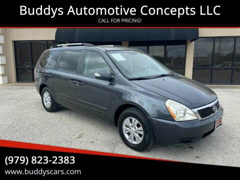 2012 Kia Sedona for sale at Buddys Automotive Concepts LLC in Bryan TX
