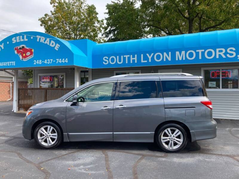 2015 Nissan Quest for sale at South Lyon Motors INC in South Lyon MI