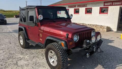 1999 Jeep Wrangler for sale at Sarpy County Motors in Springfield NE