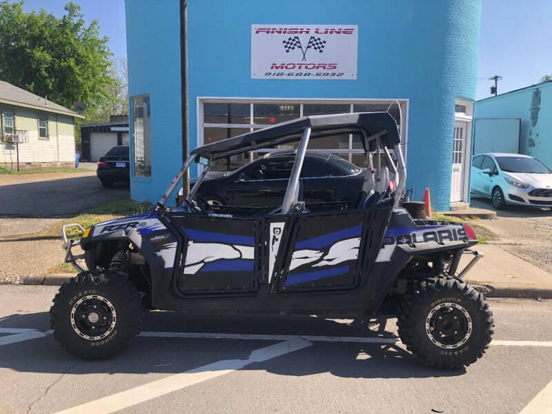 2010 Polaris Ranger RZR4 for sale at Finish Line Motors in Tulsa OK