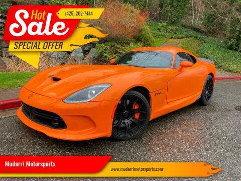 2014 Dodge SRT Viper for sale at Mudarri Motorsports in Kirkland WA
