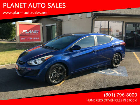 2015 Hyundai Elantra for sale at PLANET AUTO SALES in Lindon UT