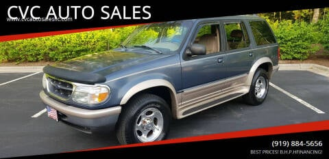 1998 Ford Explorer for sale at CVC AUTO SALES in Durham NC