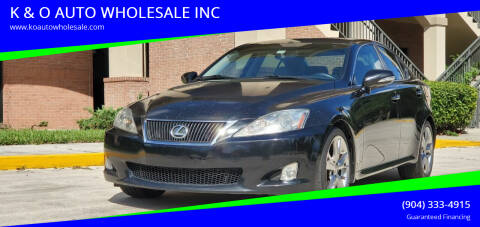 2010 Lexus IS 250 for sale at K & O AUTO WHOLESALE INC in Jacksonville FL