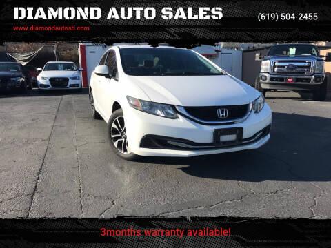2013 Honda Civic for sale at DIAMOND AUTO SALES in El Cajon CA