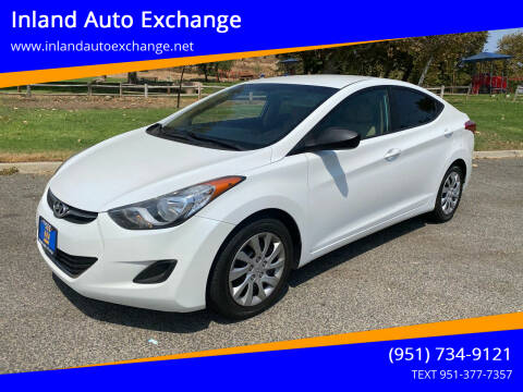 2012 Hyundai Elantra for sale at Inland Auto Exchange in Norco CA