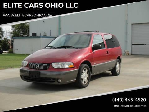 2002 Mercury Villager for sale at ELITE CARS OHIO LLC in Solon OH