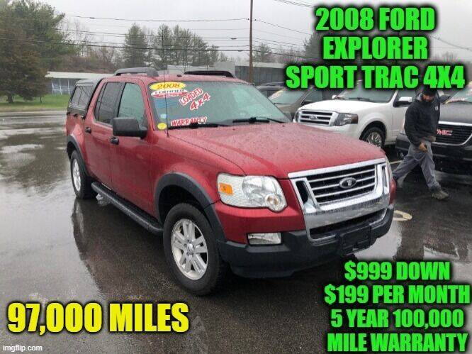 2008 Ford Explorer Sport Trac for sale at D&D Auto Sales, LLC in Rowley MA