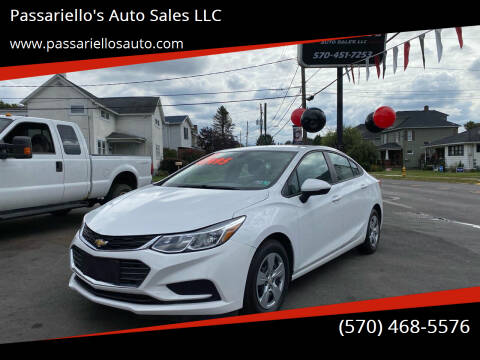 2017 Chevrolet Cruze for sale at Passariello's Auto Sales LLC in Old Forge PA