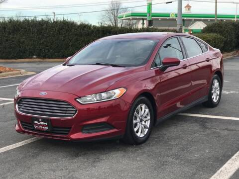 2015 Ford Fusion for sale at RUSH AUTO SALES in Burlington NC
