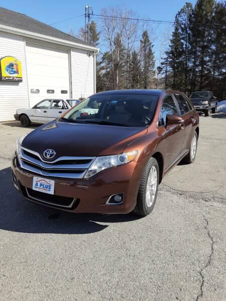 2014 Toyota Venza for sale at A-Plus Motors in Alton ME