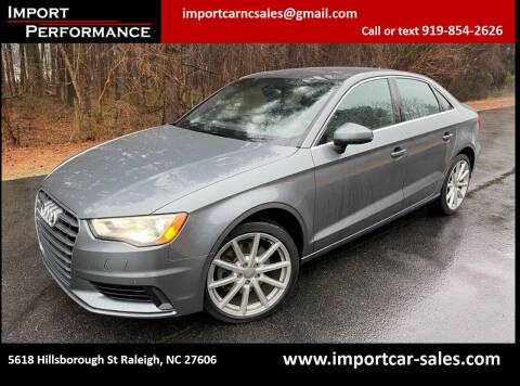 2015 Audi A3 for sale at Import Performance Sales in Raleigh NC