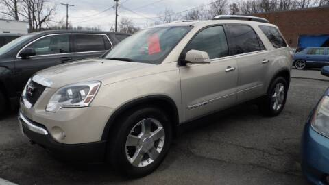 2008 GMC Acadia for sale at G AND J MOTORS in Elkin NC