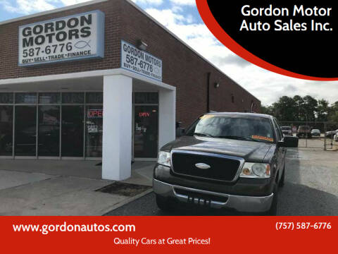 2008 Ford F-150 for sale at Gordon Motor Auto Sales Inc. in Norfolk VA