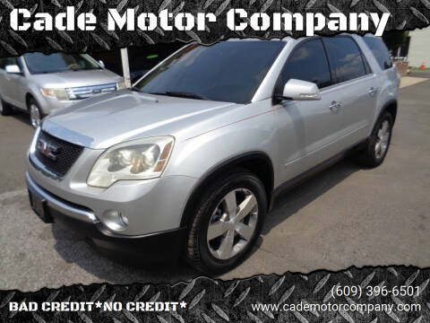 2012 GMC Acadia for sale at Cade Motor Company in Lawrence Township NJ