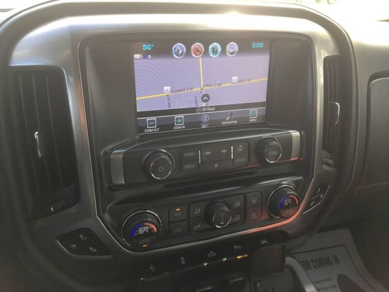 2018 Chevrolet Silverado 1500 4x4 LTZ 4dr Crew Cab 5.8 ft. SB - Rugby ND