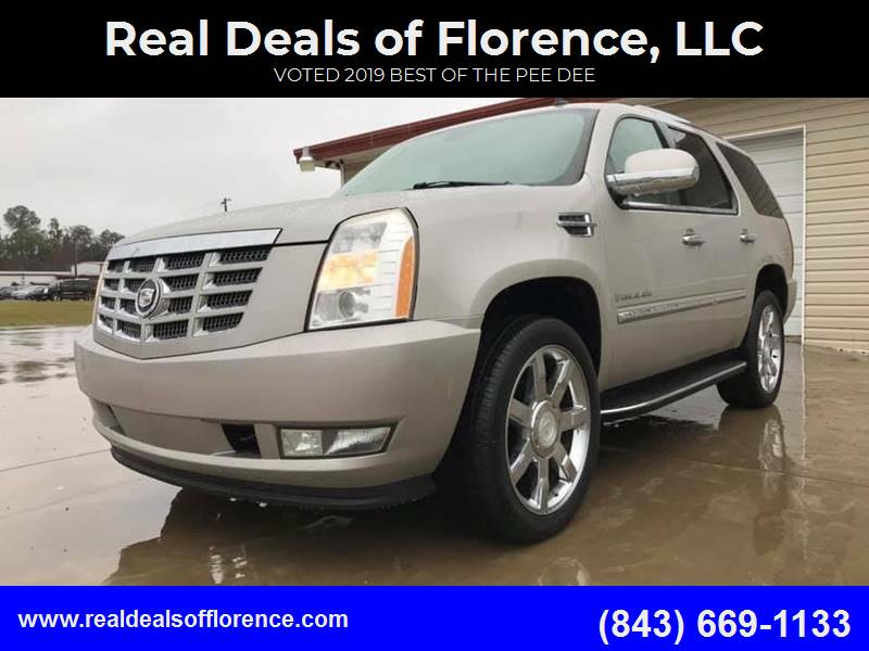 2007 Cadillac Escalade for sale at Real Deals of Florence, LLC in Effingham SC