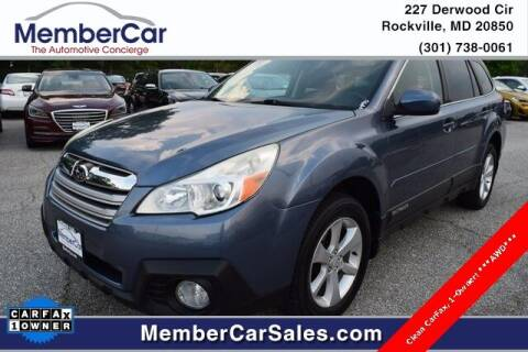 2013 Subaru Outback for sale at MemberCar in Rockville MD
