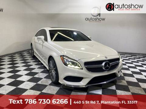 2016 Mercedes-Benz CLS for sale at AUTOSHOW SALES & SERVICE in Plantation FL